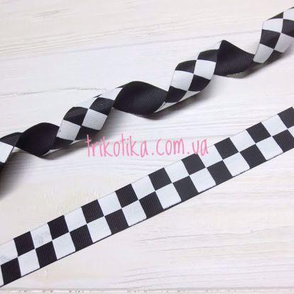 Изображение Репсоваяая лента, Шахматка 25мм