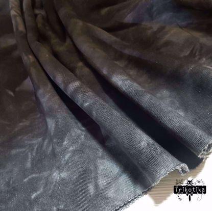 Изображение Футер 3х нитка, петля, Тай Дай, Черный