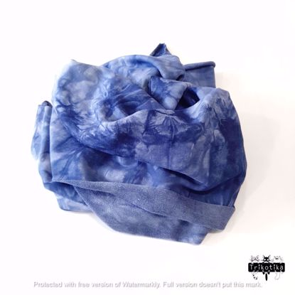 Изображение Футер 3х нитка, петля, Тай Дай, Синий